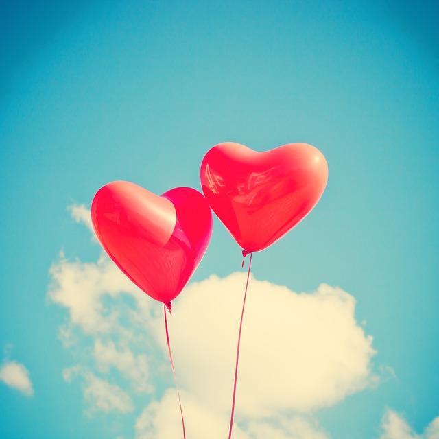 balonky srdce